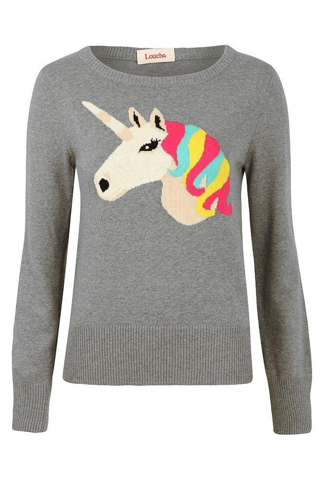 Louche Unicorn Intarsia Jumper