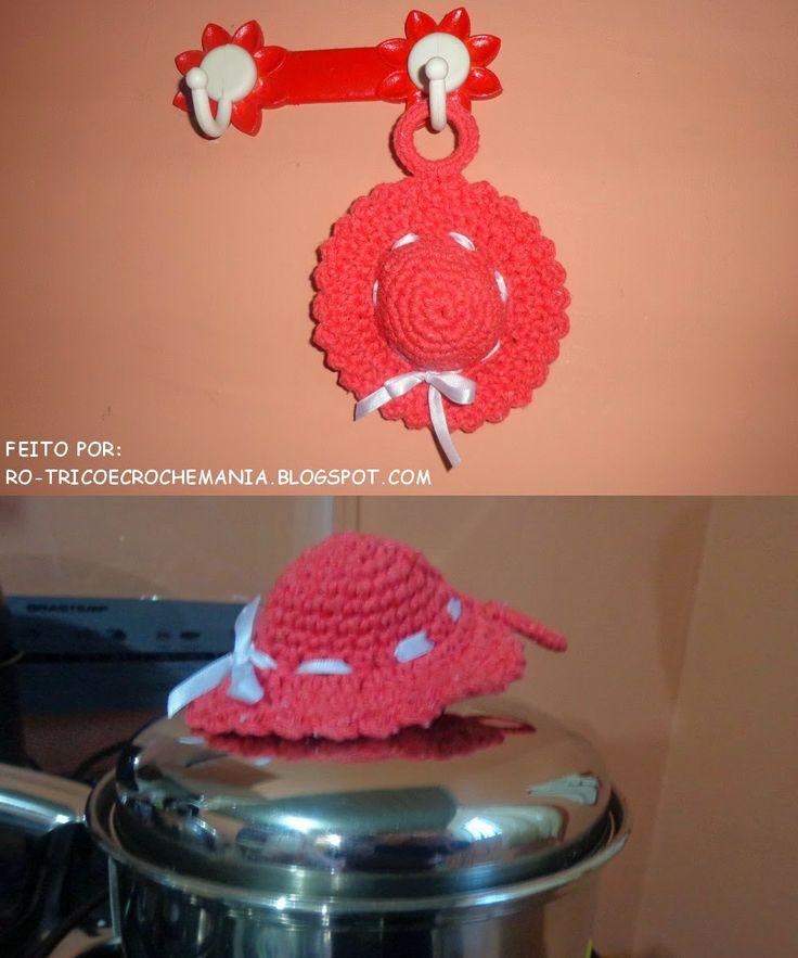 Pega panelas em crochet  #Crochet #potholder