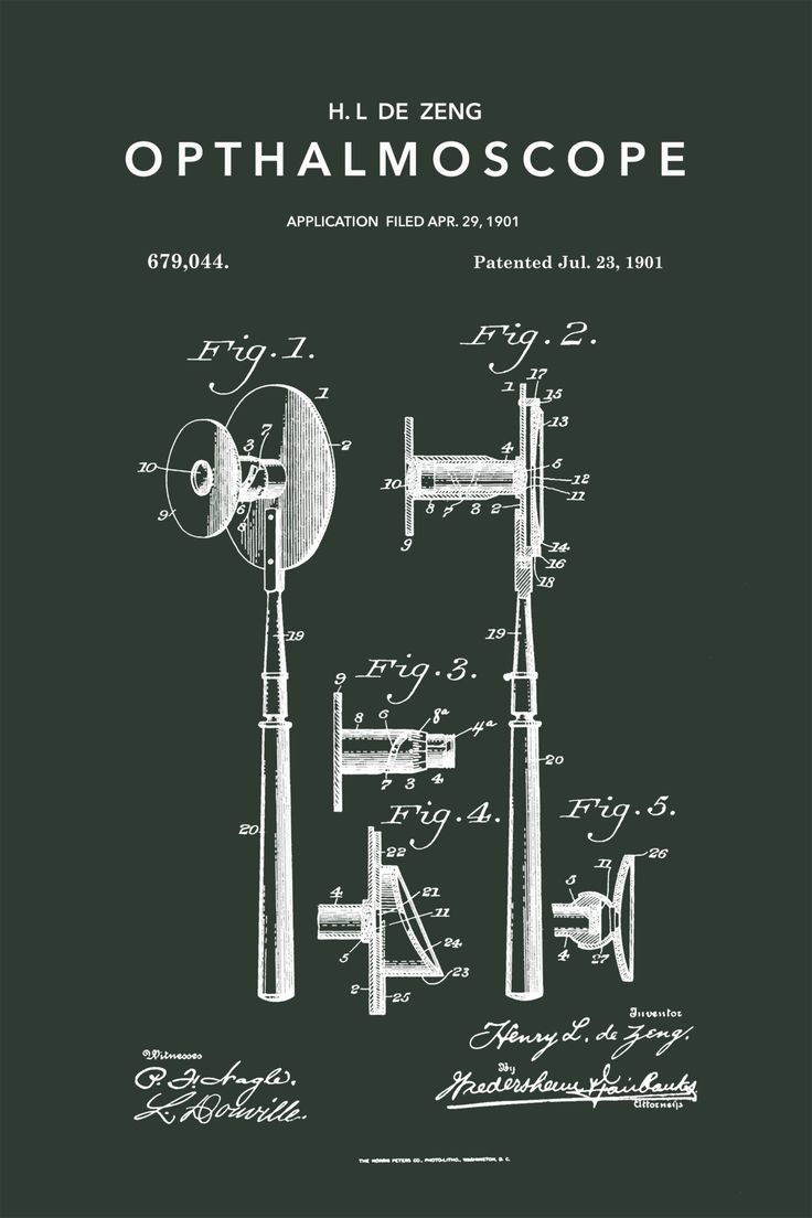 Opthalmoscope Patent - Stretched Canvas