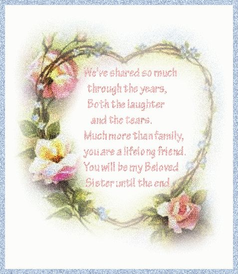 sister poems for birthday | Sunny Says...: Happy Sisters Week!!!... & ...Oh Well....Here & There ...