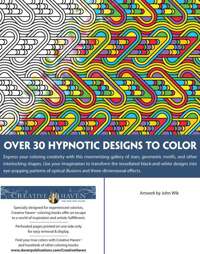 Creative Haven Tessellation Patterns Coloring Book From Dover Publications