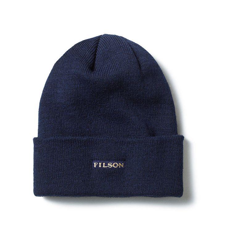 Wool Cuff Cap in Navyblau von Filson