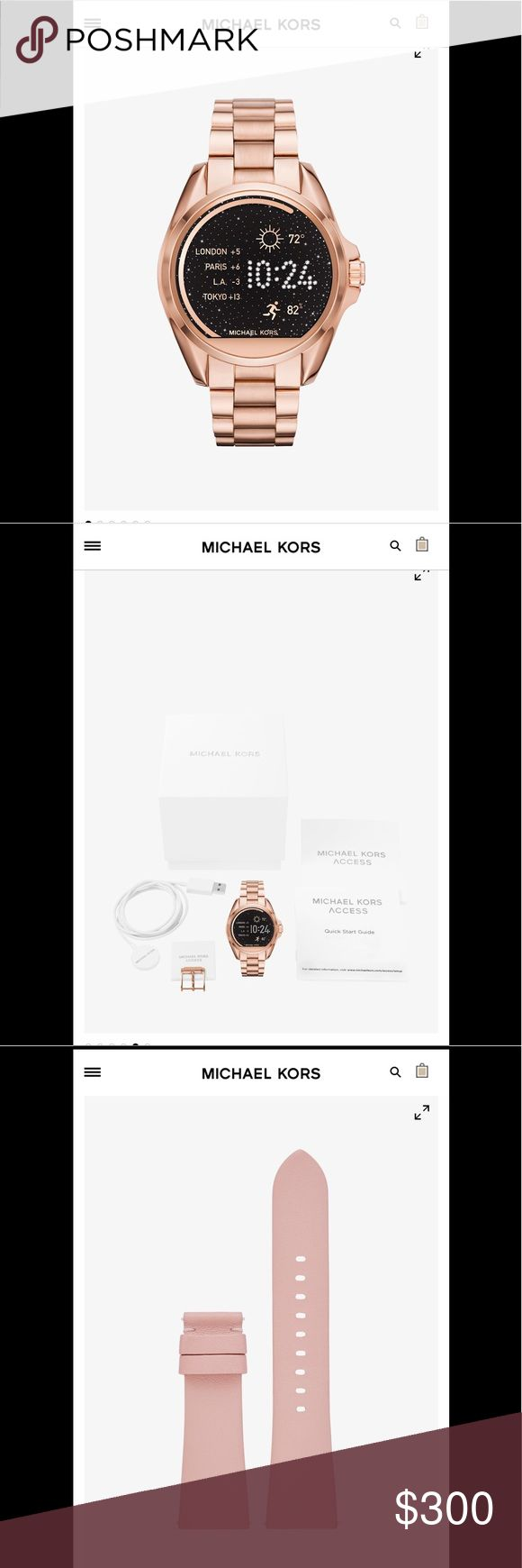 Michael Kors Rose Gold Smartwatch New, never used Bradbury rose gold Michael Kors Smart Watch. Extra watch and include. KORS Michael Kors Accessories Watches