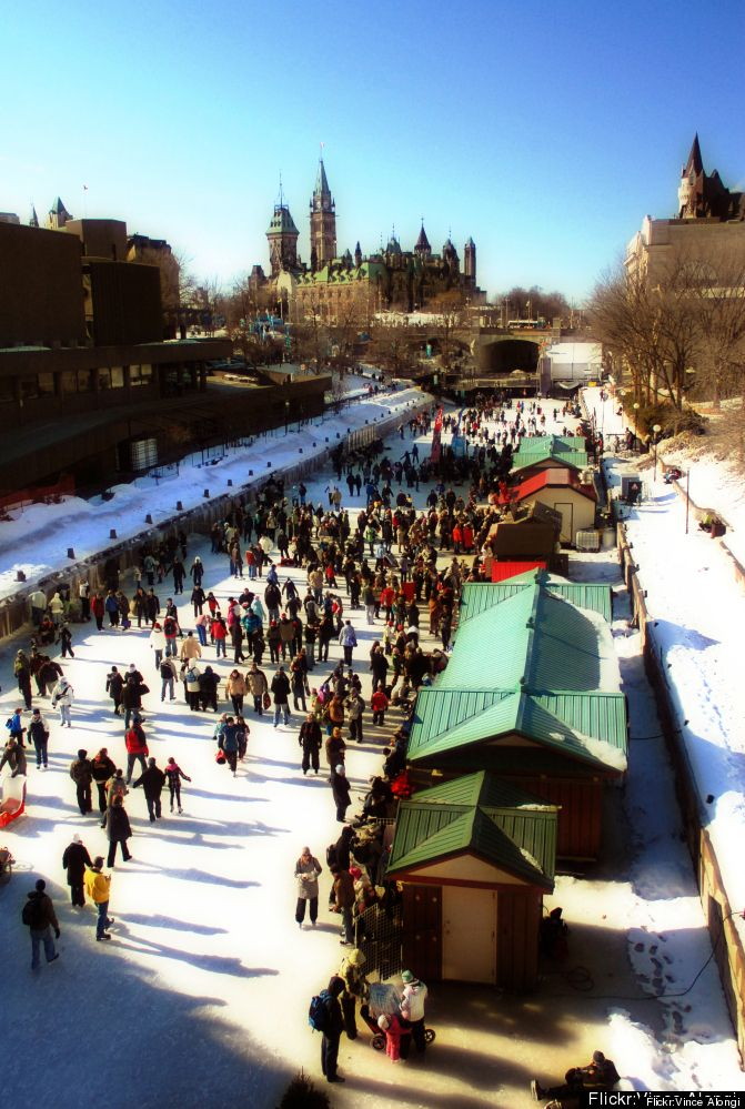 Rideau Canal in Ottawa, Canada is the world's #1 stand-out ice skating spots