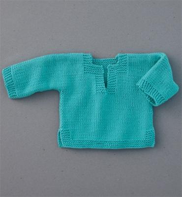 Modèle pull tunisien bébé - Modèles tricot layette - Phildar
