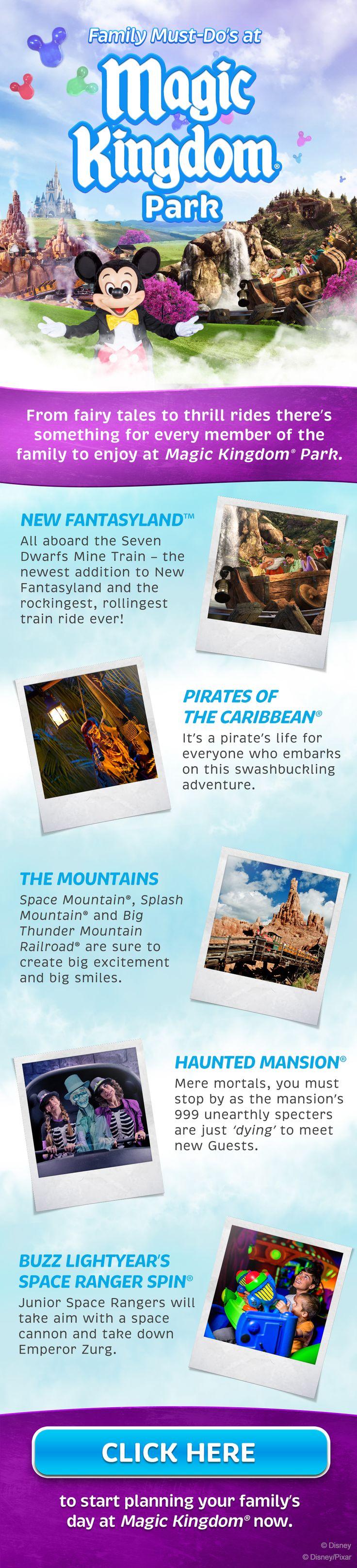 Family Must-Do's at Magic Kingdom at Walt Disney World! New Fantasyland, Pirates of the Caribbean, Splash Mountain, Haunted Mansion and Buzz Lightyear!
