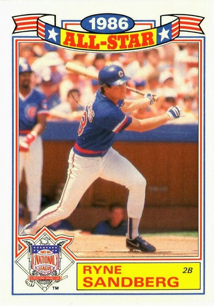 1987 Topps AllStar Ryne Sandberg Baseball card values