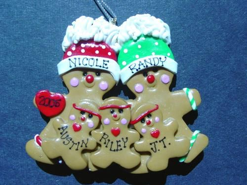 Image detail for -POLYMER CLAY CHRISTMAS ORNAMENT. GINGERBREAD CHRISTMAS ORNAMENT ...