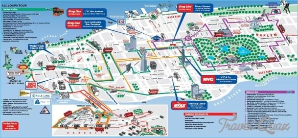Tourist Map Of New York City Pdf.New York Tourist Map Pdf Map Of New York City Travelquaz 609 X 282
