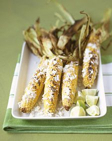 grilled corn, always a favorite in the country