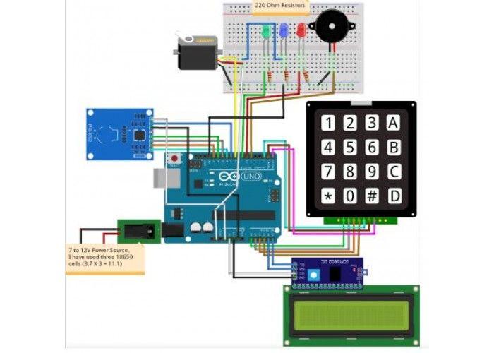Rfid And Keypad Based Door Lock Using Arduino Cytron Project Collection Keypad Door Locks Door Locks
