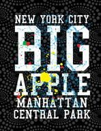 new york city big apple vector art