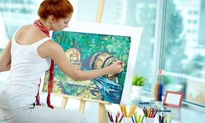 $24 for a BYOB Painting Class for One at A Piece of Work (Up to $40 Value)