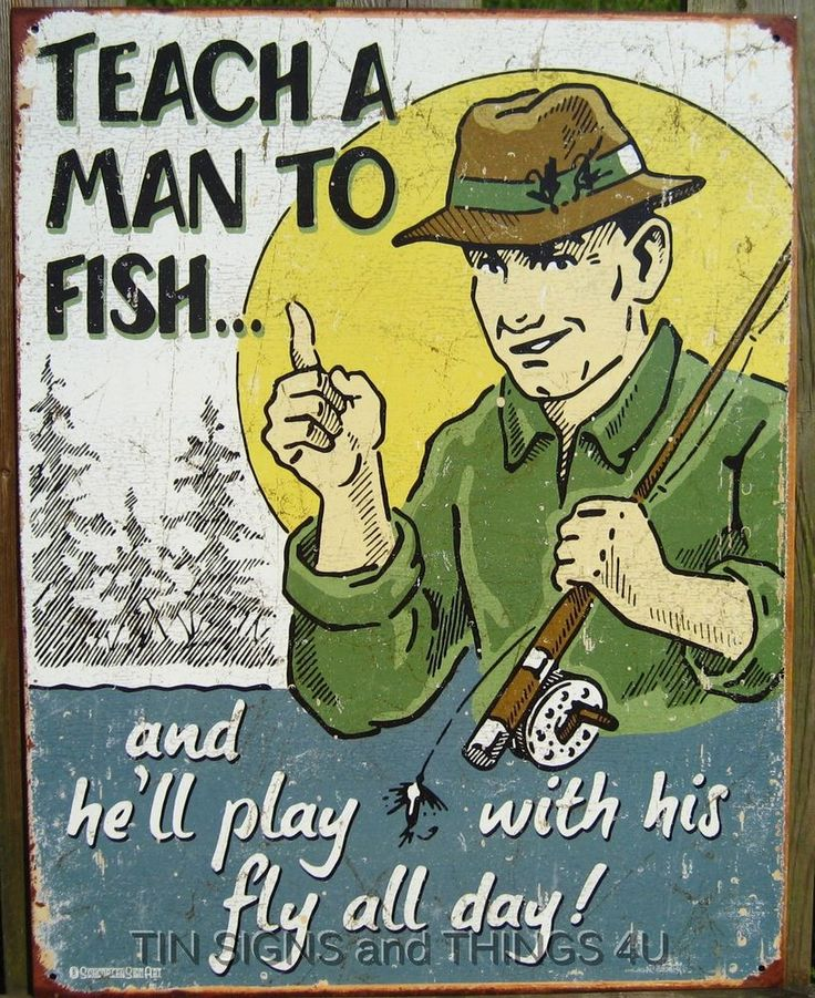 31 best Fishing Themed Tin Sign Wall Decor images on Pinterest ...