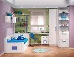 armario, zapatero, cama nido, libreria y mesa estudio