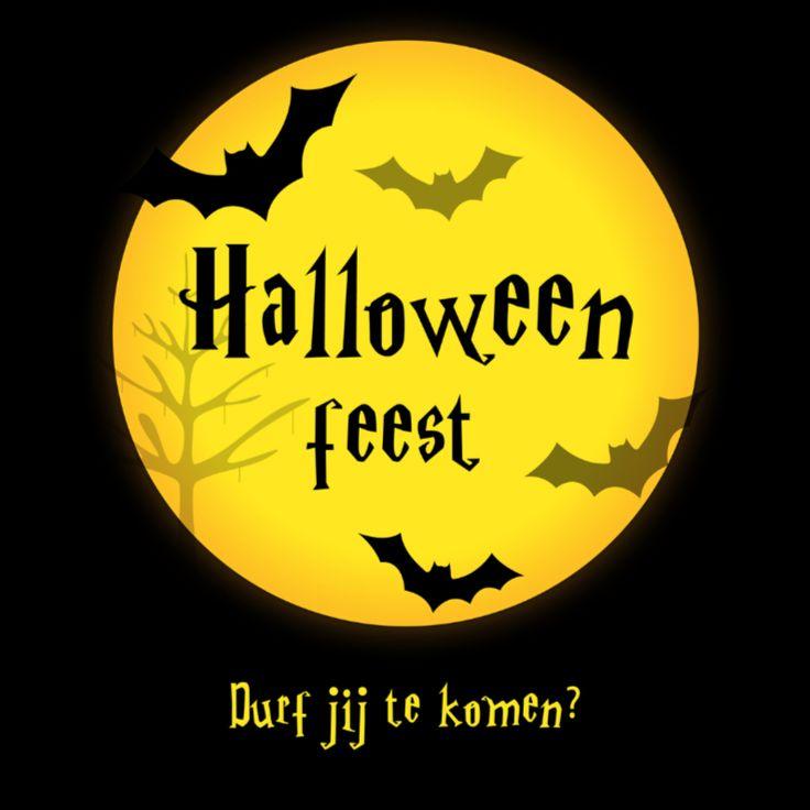 Halloween feest uitnodiging, verkrijgbaar bij #kaartje2go voor €1,89