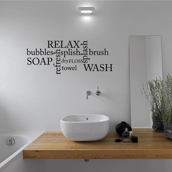 Beautiful Versatile Wall Stickers For Bathroom With Various Models : Vinyl Wall  Stickers That Harmonious With The Single Vanity That Is Used To Prop Up The  Porcelain ...