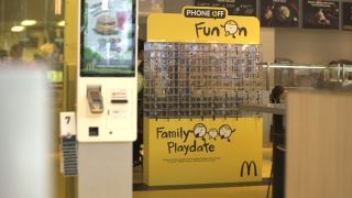 Singapore McDonald's mobile phone locker