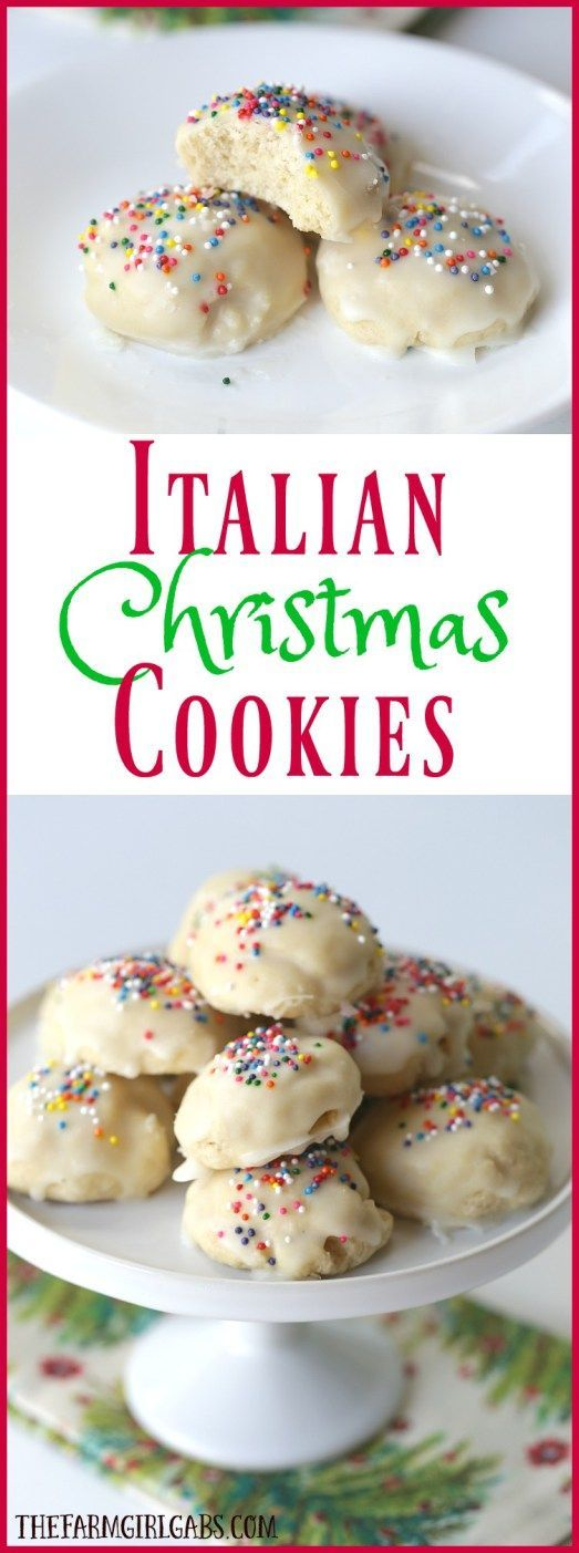 awesome Italian Christmas Cookies are a delicious cake-like cookie with a hint of anise ...