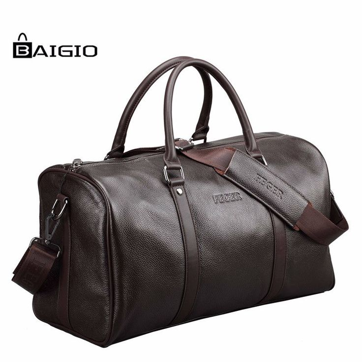 Baigio Men Travel Bag Genuine Leather Large Capacity Luggage Waterproof http://mobwizard.com/product/baigio-men-travel/