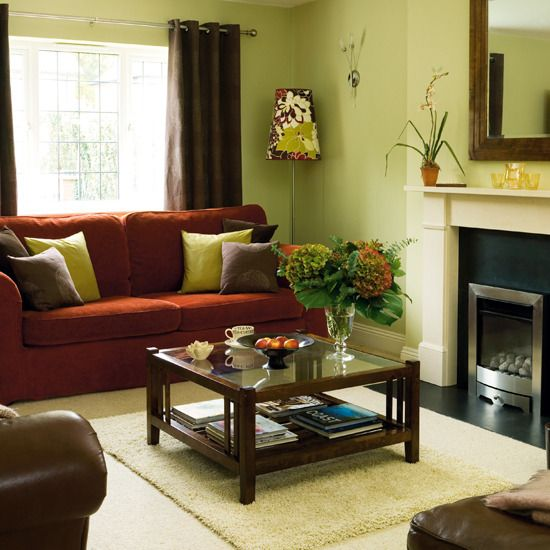Living Room Decorating With Light Green Wall Paint