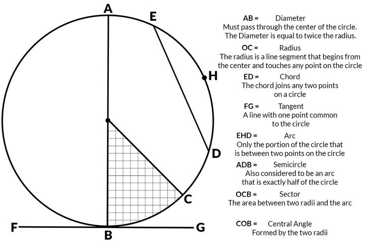 Here's how to calculate the area of a circle, diameter of a circle, radius and circles, and how to calculate the circumference of circles.