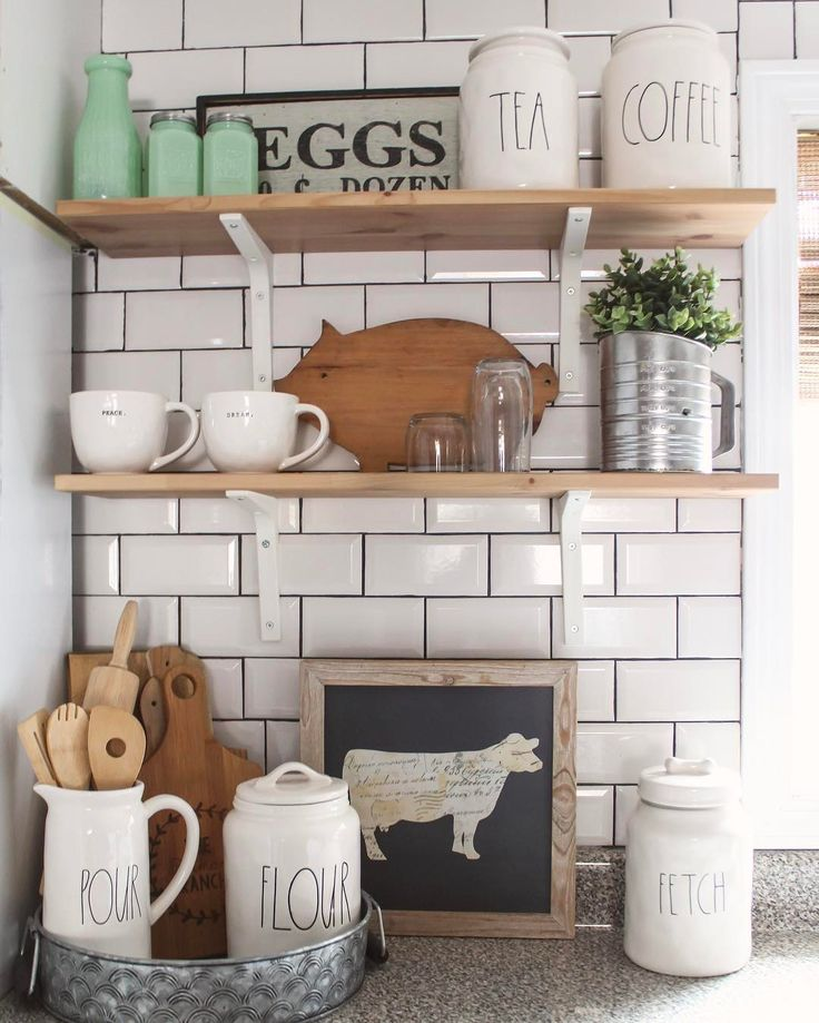 Farmhouse Kitchen Open Shelves: 7093 Best Neat Kitchen And Dining Ideas Images On