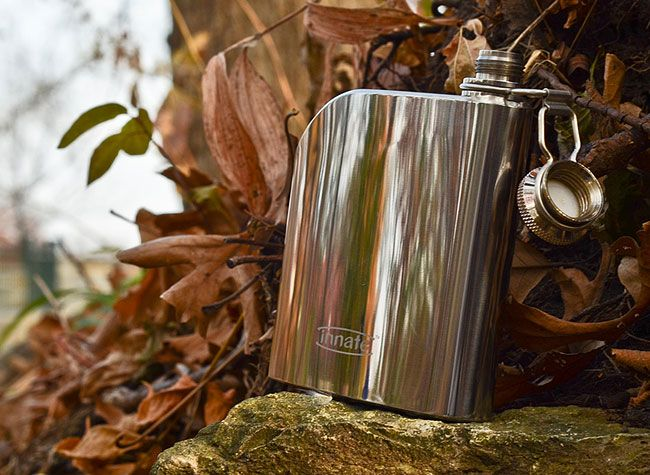 Innate Trad Flask - classic looks and a curved design that fits a pocket perfectly $20