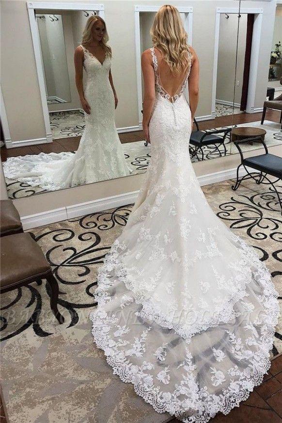 Elegant Wedding Dresses Tumblr In 2020 Backless Mermaid Wedding Dresses Lace Wedding Dress Vintage Backless Wedding Dress