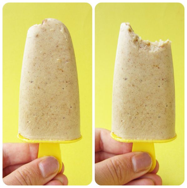 Banana Date Popsicles with Cinnamon & Vanilla