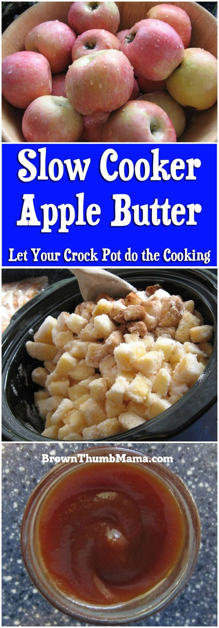 Its so easy to make apple butter in the slow cooker! 5 ingredients make a flavorful spread for toast, english muffins, or best of all--turkey sandwiches.