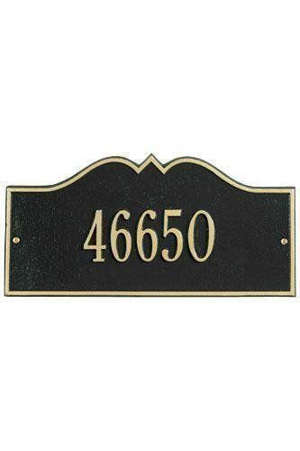 Hillsboro One-Line Petite Wall Address Plaque - petite/one line, Black by Home Decorators Collection. $55.00. Hillsboro One-Line Petite Wall Address Plaque - It's Your Own Little Corner Of The World - So Why Not Mark It With Pride? A House Sign Announces A Message Of Distinction. These Premium, Textured And Dimensional Address Plaques Are Designed With Large Letters And Numbers For Maximum Visibility. Choose From Our Exceptional Array Of Custom Address Plaques T...