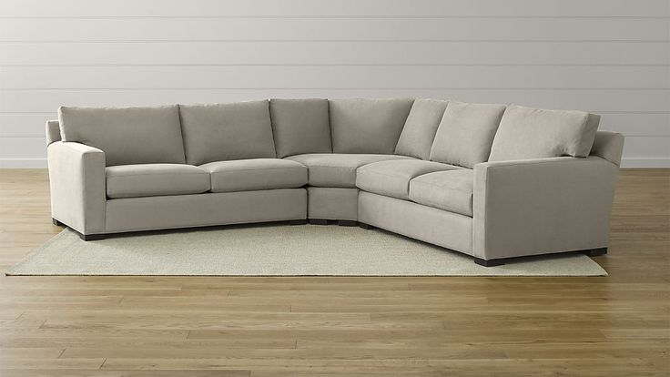 Axis II 3-Piece Sectional Sofa | Crate and Barrel.  While it doesn't have the single seat cushion, this sofa has a nice back height and depth and lots of fabric choices.