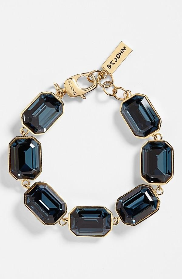 St. John Collection Crystal Station Line Bracelet