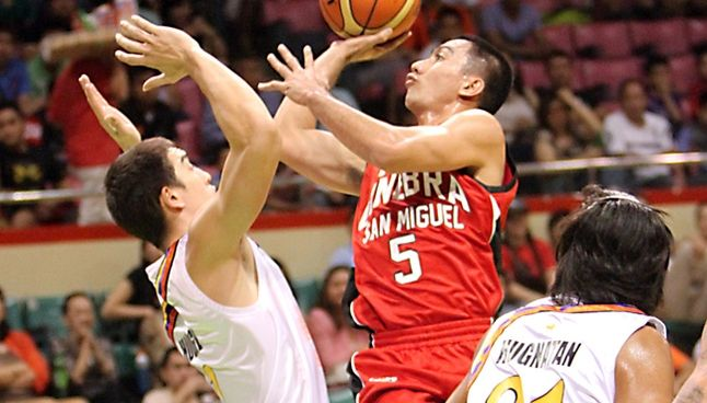 Tenorio Helps Ginebra Ease Past Bolts Gives Agustin First Win Solar Sports Desk