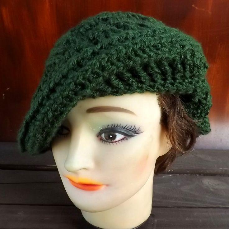 Crochet Pattern Crochet Hat Pattern Womens Hat PALM LEAF Crochet Beret Hat Pattern