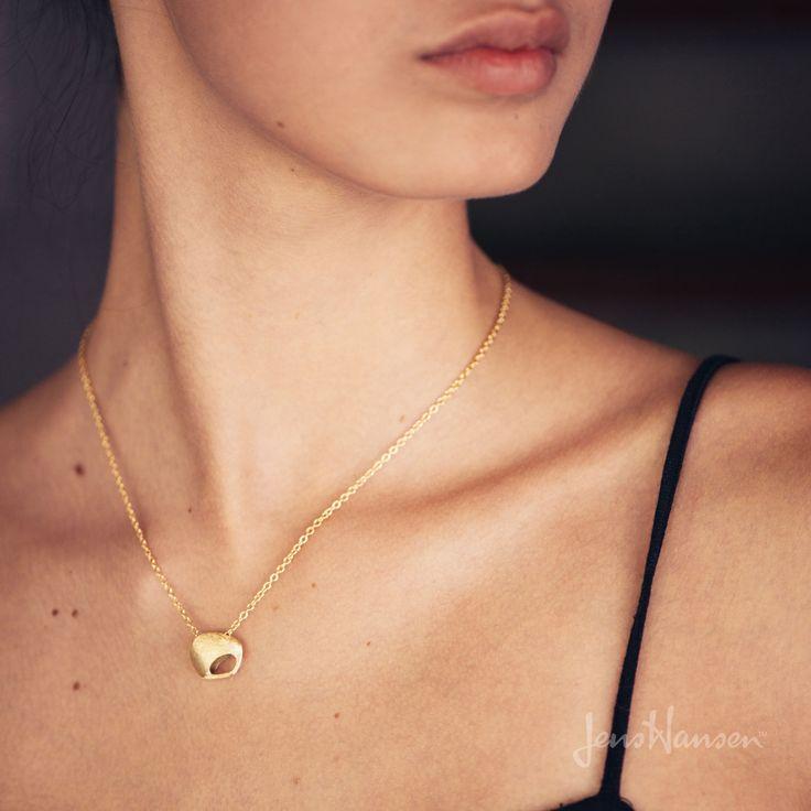 Golden Kiwi Necklace - Hand Textured
