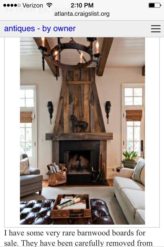 Wood Fireplace barnwood fireplace : 9 best images about Barn wood fireplaces on Pinterest