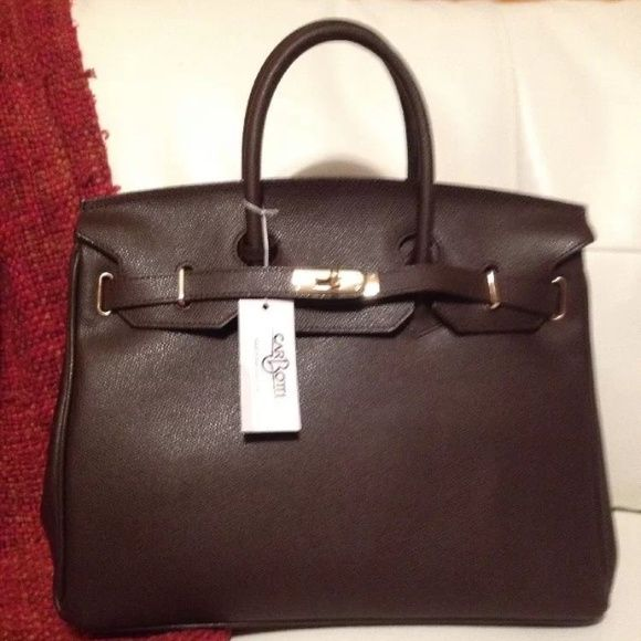 hermes lindy bag sizes - Selling this \u0026quot;AUTHENTIC CARBOTTI BIRKIN STYLE BROWN LEATHER BAG ...