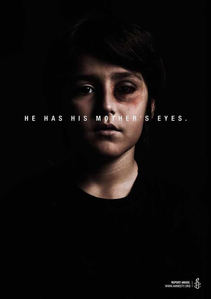 He has his mother's eyes | 60 Powerful Social Issue Ads That'll Make You Stop And Think