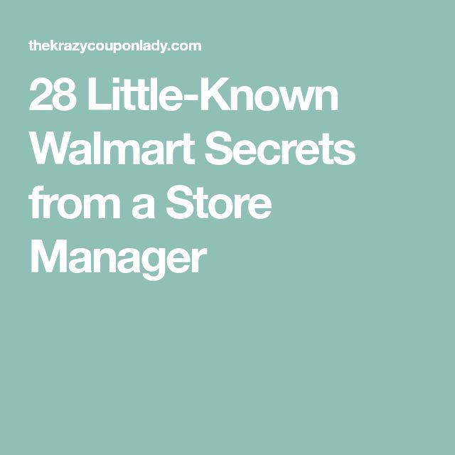29 best coupons discounts etc images on pinterest coupon 28 little known walmart secrets from a store manager to save money and other cool fandeluxe Image collections
