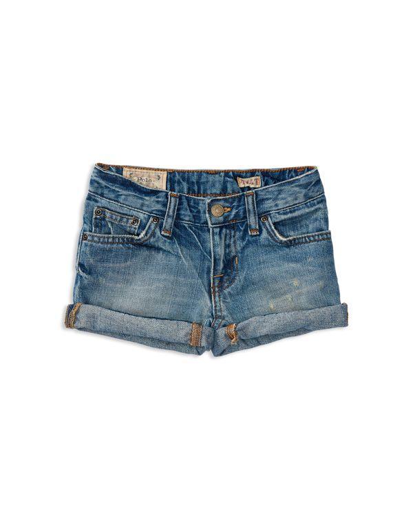 Ralph Lauren Childrenswear Girls' Weekender Jean Shorts - Sizes 2-6X