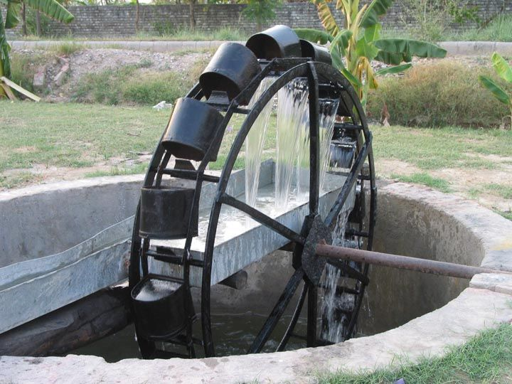 Water Wheel  Ancient Persian water wheel well