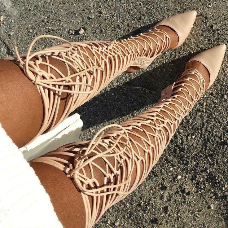 Glam Nude Gladiator Heels