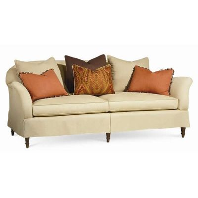 Pillow fight sofa x 43d x seat height 21 for Pillow back bed frame