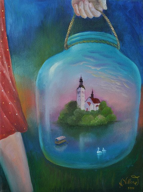 I'm taking lake Bled with me | by Art by Natasha Villone