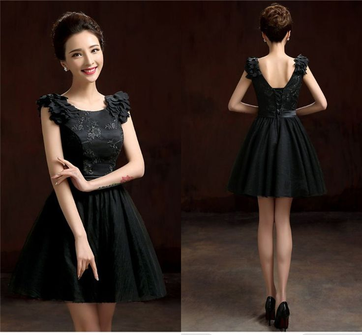 New Sweetheart Little Black Bridesmaid Dress Formal Evening Party Princess Dress #Unbranded #Sexy #Formal