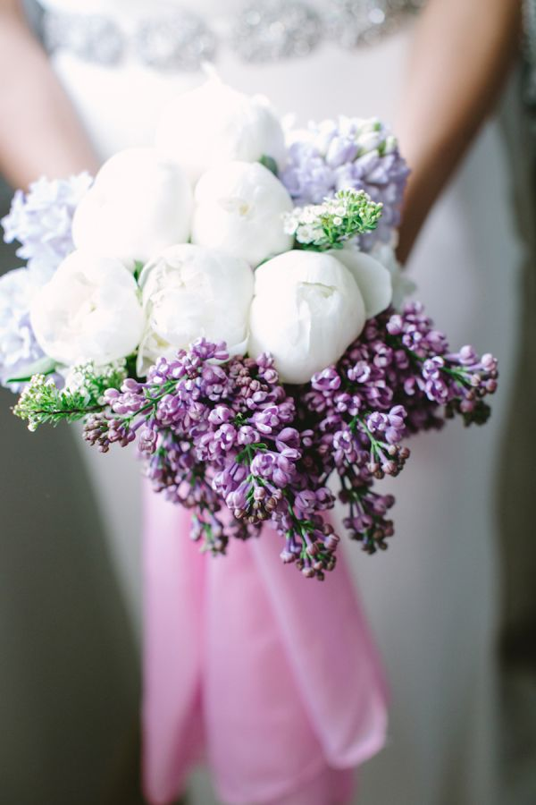 Elegant white + lavender bouquet: http://www.stylemepretty.com/vault/gallery/39030 | Photography: Les Amis Photo - http://lesamisphoto.com/