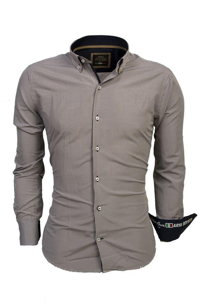 Italian Style Shirts Brown