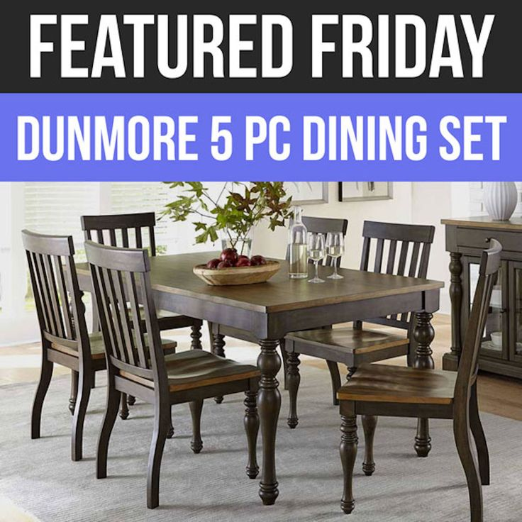 Two Tone Elegance Is The Hallmark Of The Dunmore Dining Set, Which Is This